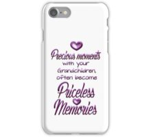 Precious moments with your grandchildren often become priceless memories iPhone Case/Skin