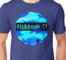 Fishhook Court - Deep Blue Unisex T-Shirt