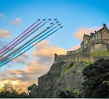 The Red Arrows Edinburgh Castle by MY Scotland