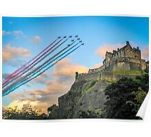The Red Arrows Edinburgh Castle Poster