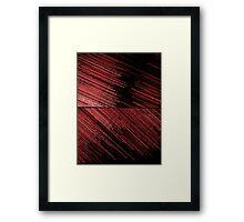 Line Art - The Scratch, red Framed Print