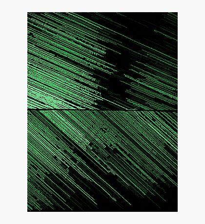 Line Art - The Scratch, green Photographic Print