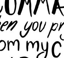 Oxford Comma Grammar Joke - Black Lettering Sticker