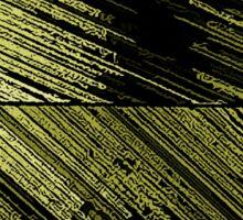 Line Art - The Scratch, yellow Sticker