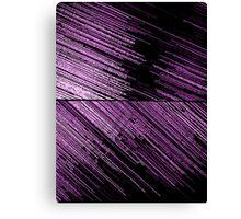 Line Art - The Scratch, pink/purple Canvas Print