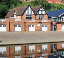 Shrewsbury School and boathouse Sticker