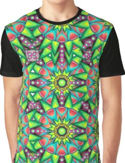 Colorful Psychedelic Trippy Funky Pattern Graphic T-Shirt