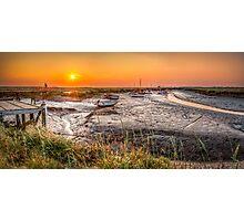 Sunset at Morston Creek Photographic Print