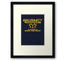 Doc & Marty Transport Framed Print