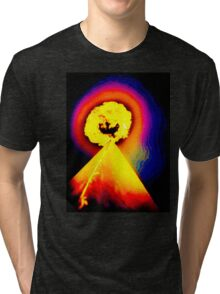 Phoenix Flame Rainbow Tri-blend T-Shirt