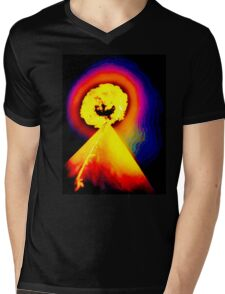 Phoenix Flame Rainbow Mens V-Neck T-Shirt