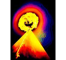 Phoenix Flame Rainbow Photographic Print