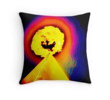 Phoenix Flame Rainbow Throw Pillow