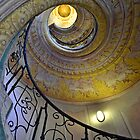 Looking upwards on the staircase  by Arie Koene