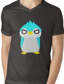 Thug Penguin Mens V-Neck T-Shirt