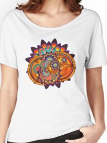 Colorful Trippy Funky Abstract Jazz Pattern Women's Relaxed Fit T-Shirt