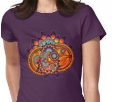 Colorful Trippy Funky Abstract Jazz Pattern Womens Fitted T-Shirt