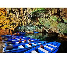 Boat ride in the underworld - Diros caves Photographic Print