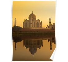 Taj Mahal - A White Marble Museum in India Poster
