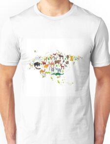 Eurasia Animal Map Simple Unisex T-Shirt