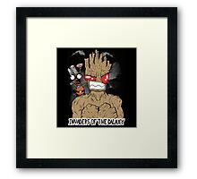 Invaders Of The Galaxy Framed Print
