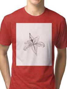 Stargazer Lily Tri-blend T-Shirt