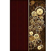 Steampunk Gears half wood Photographic Print