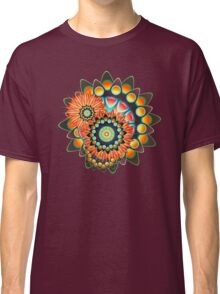 Happy Colorful Psychedelic Cool Funky Pattern Classic T-Shirt