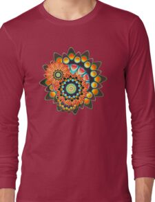 Happy Colorful Psychedelic Cool Funky Pattern Long Sleeve T-Shirt