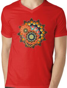 Happy Colorful Psychedelic Cool Funky Pattern Mens V-Neck T-Shirt