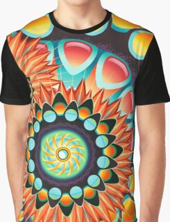 Happy Colorful Psychedelic Cool Funky Pattern Graphic T-Shirt