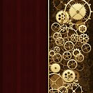 Steampunk Gears half wood by Confundo