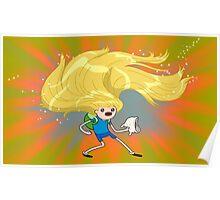 Finn hair Poster
