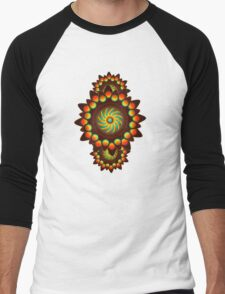 Happy Colorful Abstract Cool Funky Art Pattern Men's Baseball ¾ T-Shirt