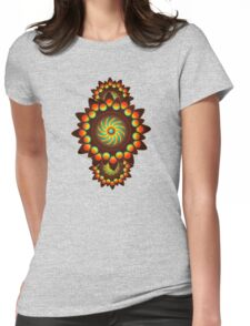 Happy Colorful Abstract Cool Funky Art Pattern Womens Fitted T-Shirt