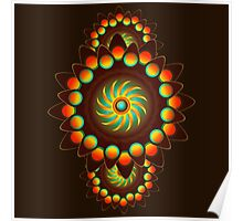 Happy Colorful Abstract Cool Funky Art Pattern Poster