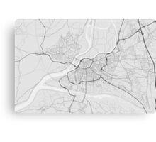 Avignon, France Map. (Black on white) Canvas Print