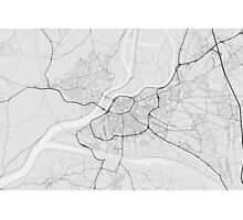 Avignon, France Map. (Black on white) Photographic Print