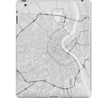 Bordeaux, France Map. (Black on white) iPad Case/Skin