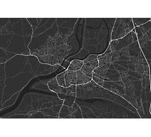 Avignon, France Map. (White on black) Photographic Print