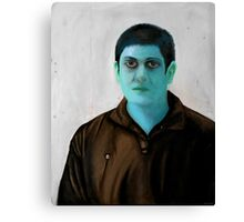 Creepy Blue Guy Canvas Print