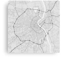 Bordeaux, France Map. (Black on white) Canvas Print