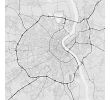 Bordeaux, France Map. (Black on white) Photographic Print