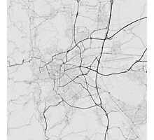 Clermont Ferrand, France Map. (Black on white) Photographic Print