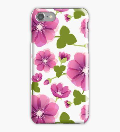 Romantic purple flowers iPhone Case/Skin