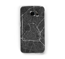 Lille, France Map. (White on black) Samsung Galaxy Case/Skin
