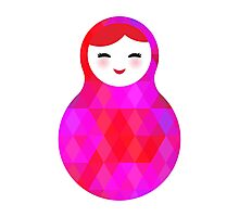 Pink Matryoshka Doll Photographic Print