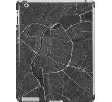 Lyon, France Map. (White on black) iPad Case/Skin