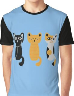 Three wise cats Graphic T-Shirt