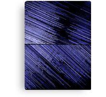 Line Art - The Scratch, blue Canvas Print